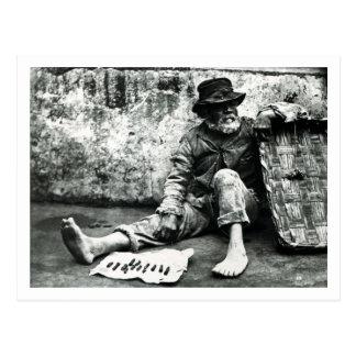 vendeur de Cigare-fin, c, 1865 (photo de b/w) Carte Postale