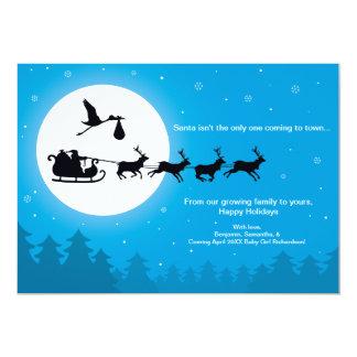 Carte Venez au faire-part de grossesse de Noël de ville