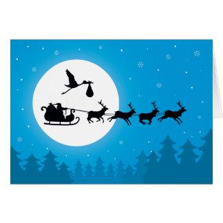 Venez aux cartes de Noël de grossesse de ville