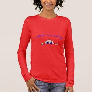 VENEZ CETTE maternité d'HIVER (bébé jetant un coup T-shirt À Manches Longues