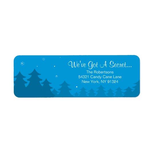 Venir de retour d'étiquette -adresse de Noël de Étiquette D'adresse Retour