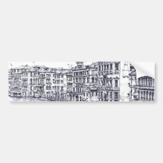 Venise, Italie, en encre Autocollant De Voiture