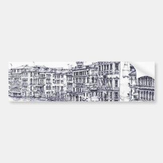 Venise, Italie, en encre Autocollant Pour Voiture