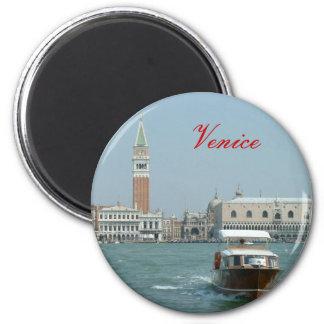 Venise Magnet Rond 8 Cm