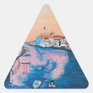 Venise Sticker Triangulaire