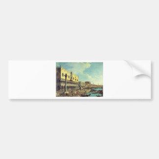 Venise Veduta par Bernardo Bellotto Autocollant De Voiture