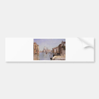 Venise - vue de della Carita de Campo regardant… Autocollant De Voiture