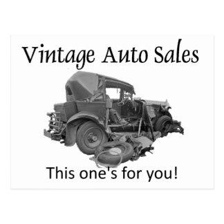 Ventes automatiques vintages, carte postale