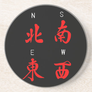 Vents de Mahjong, costume d'honneur, nord, sud, (c Dessous De Verre