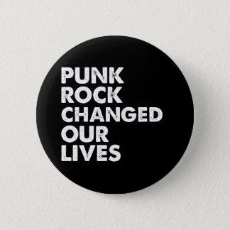 Veranderd punk rock Ons Leven Ronde Button 5,7 Cm