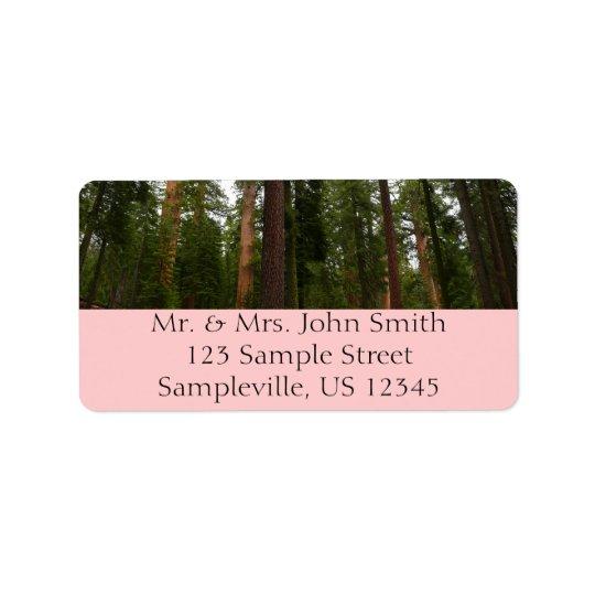 Verger de Mariposa en parc national de Yosemite Étiquette D'adresse