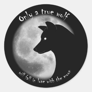 Véritable autocollant de loup