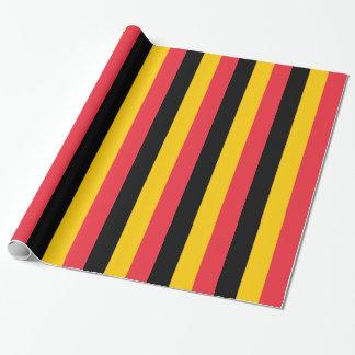 Verpakkend document met Vlag van België Inpakpapier