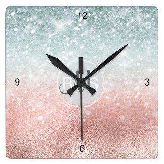 Verre combiné ID434 de gradient de parties Horloge Carrée