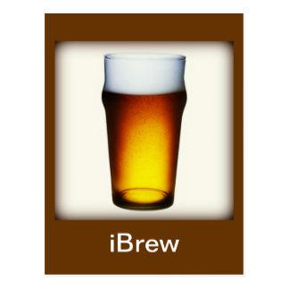 verre de bière anglaise d'iBrew Carte Postale