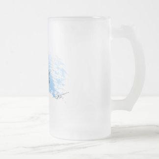Verre de bière givré par thon de dent de chien frosted glass beer mug