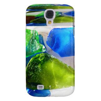 Verre de mer de caisse bleu-vert de point d'I Coque Galaxy S4