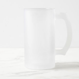 Verre givré givré Stein de 16 onces Frosted Glass Beer Mug