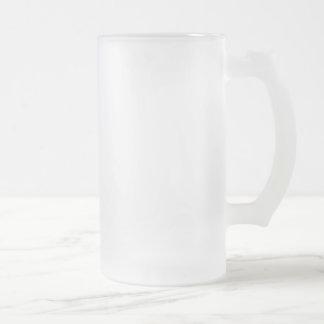 Verre givré givré Stein de 16 onces Frosted Glass Beer Mug
