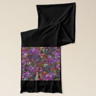 Verre souillé d'abrégé sur floral écharpe
