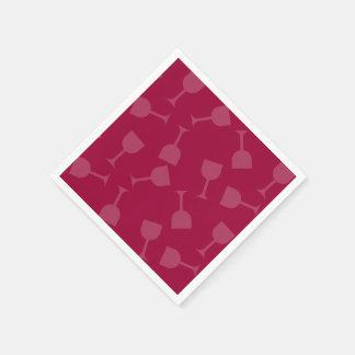 Verres de vin pompette serviettes en papier