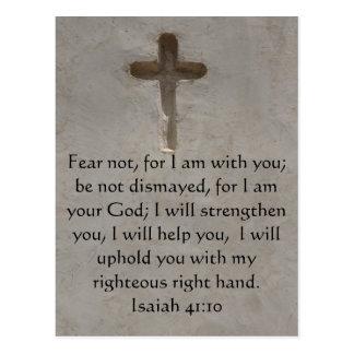 Vers inspiré de bible de 41:10 d'Isaïe Cartes Postales
