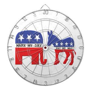 Verschil tussen Grappige Republikeinen en Dartbord