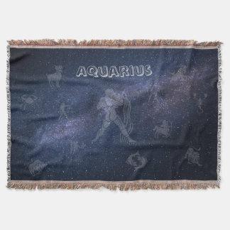 Verseau de signe de zodiaque couvre pied de lit