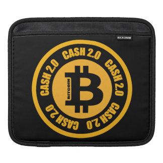 Version 2,0 d'argent liquide de Bitcoin Poches iPad
