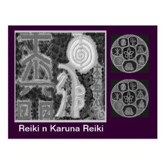 Version noire et blanche - Reiki n Karuna Carte Postale