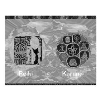 Version noire et blanche - Reiki n Karuna Cartes Postales