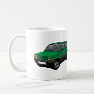 Vert 30/45 de Fiat Panda Mug Blanc