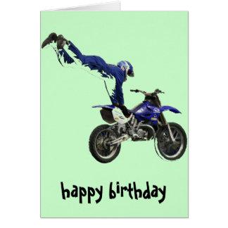 vert aérien de col de carte du motocross #3
