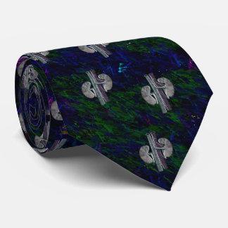 Vert bleu de conception Artsy unique de cravate de