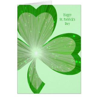 """Vert de carte jour de grand du """"St Patrick"""" de sha"""