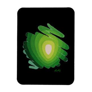Vert de Chakra de coeur sur l'aimant flexible noir Magnet Flexible