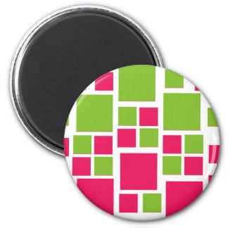 Vert de chaux d'art de conception/roses indien car magnet rond 8 cm
