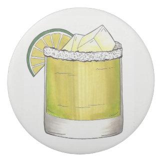 Vert de chaux de cocktail de cocktail d'été de gomme
