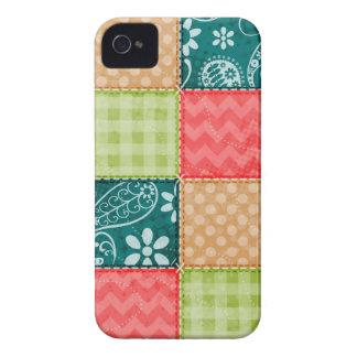 Vert de chaux mignon, turquoise, et rouge étui iPhone 4