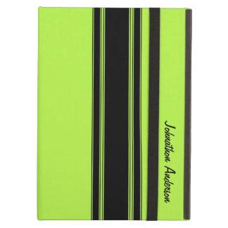 Vert de chaux moderne emballant des rayures avec