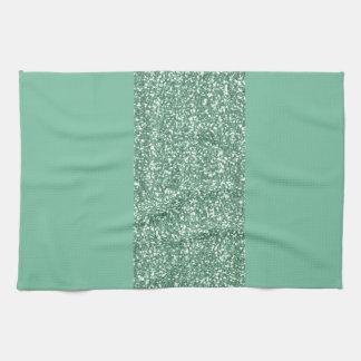 Vert de menthe avec le scintillement de faux serviette éponge