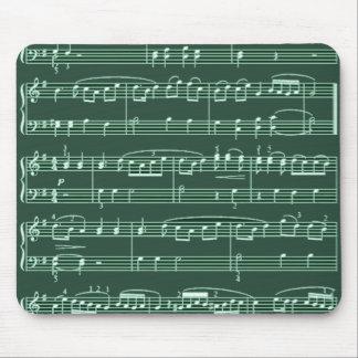 vert de notes musicales tapis de souris