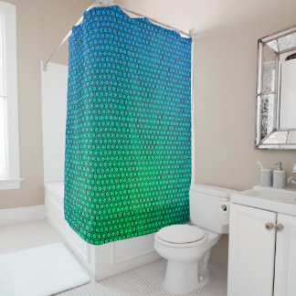 Vert de résumé au rideau en douche de turquoise