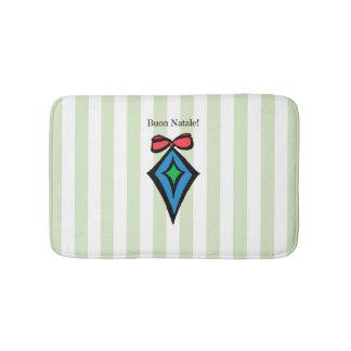 Vert de tapis de bain d'ornement de diamant de