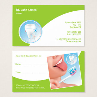Vert dentaire de dentiste de la carte | de