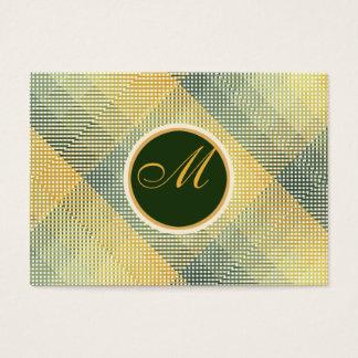 Vert élégant de motif cartes de visite