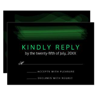 Vert élégant minimaliste à la mode de ressort de carton d'invitation 8,89 cm x 12,70 cm