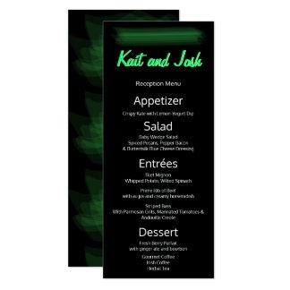 Vert élégant minimaliste de ressort de menu de carton d'invitation  10,16 cm x 23,49 cm