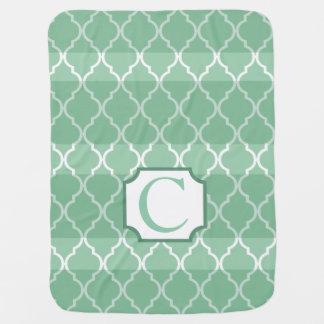 Vert en bon état du monogramme | de rayures couvertures pour bébé