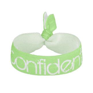 vert et blanc sûrs d'élastique à cheveux élastique pour cheveux